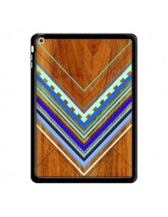 Coque Azteque Arbutus Blue Bois Aztec Tribal pour iPad Air - Jenny Mhairi