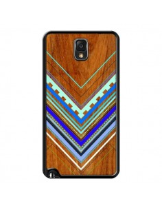 Coque Azteque Arbutus Blue Bois Aztec Tribal pour Samsung Galaxy Note III - Jenny Mhairi