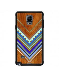 Coque Azteque Arbutus Blue Bois Aztec Tribal pour Samsung Galaxy Note 4 - Jenny Mhairi
