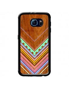 Coque Azteque Arbutus Pastel Bois Aztec Tribal pour Samsung Galaxy S6 - Jenny Mhairi
