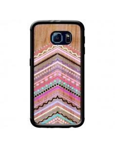 Coque Purple Chevron Wild Wood Bois Azteque Aztec Tribal pour Samsung Galaxy S6 - Jenny Mhairi