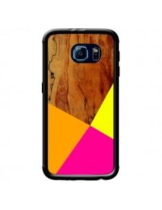 Coque Wooden Colour Block Bois Azteque Aztec Tribal pour Samsung Galaxy S6 - Jenny Mhairi
