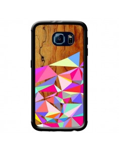 Coque Wooden Multi Geo Bois Azteque Aztec Tribal pour Samsung Galaxy S6 - Jenny Mhairi