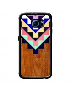 Coque Wooden Tribal Bois Azteque Aztec Tribal pour Samsung Galaxy S6 - Jenny Mhairi