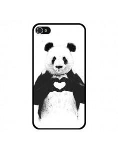 Coque Panda Amour All you need is love pour iPhone 4 et 4S - Balazs Solti