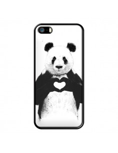 Coque Panda Amour All you need is love pour iPhone 5 et 5S - Balazs Solti