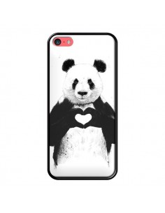 Coque Panda Amour All you need is love pour iPhone 5C - Balazs Solti