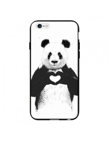 Coque Panda Amour All you need is love pour iPhone 6 - Balazs Solti