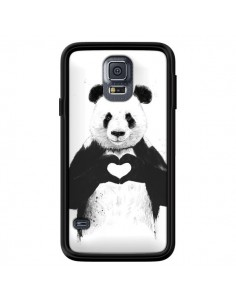 Coque Panda Amour All you need is love pour Samsung Galaxy S5 - Balazs Solti