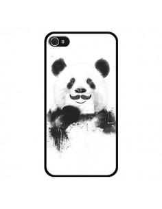 Coque Funny Panda Moustache Movember pour iPhone 4 et 4S - Balazs Solti