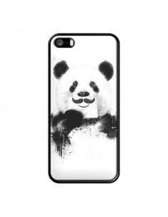 Coque Funny Panda Moustache Movember pour iPhone 5 et 5S - Balazs Solti