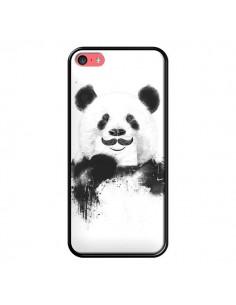 Coque Funny Panda Moustache Movember pour iPhone 5C - Balazs Solti