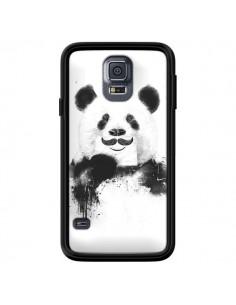 Coque Funny Panda Moustache Movember pour Samsung Galaxy S5 - Balazs Solti
