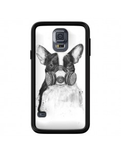 Coque Tagueur Bulldog Dog Chien Big City Life pour Samsung Galaxy S5 - Balazs Solti