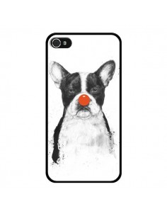 Coque Clown Bulldog Chien Dog pour iPhone 4 et 4S - Balazs Solti