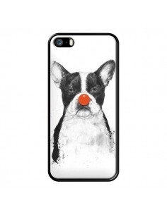 Coque Clown Bulldog Chien Dog pour iPhone 5 et 5S - Balazs Solti