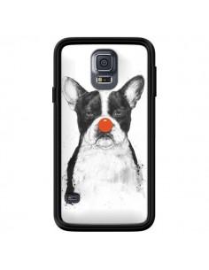Coque Clown Bulldog Chien Dog pour Samsung Galaxy S5 - Balazs Solti