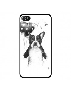 Coque Lover Bulldog Chien Dog My Heart Goes Boom pour iPhone 4 et 4S - Balazs Solti