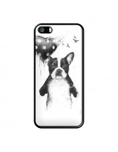 Coque Lover Bulldog Chien Dog My Heart Goes Boom pour iPhone 5 et 5S - Balazs Solti