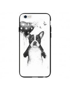 Coque Lover Bulldog Chien Dog My Heart Goes Boom pour iPhone 6 - Balazs Solti