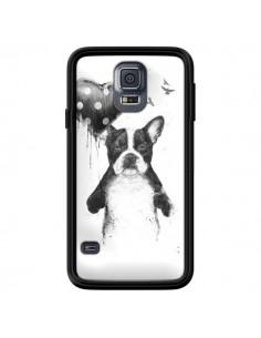 Coque Lover Bulldog Chien Dog My Heart Goes Boom pour Samsung Galaxy S5 - Balazs Solti