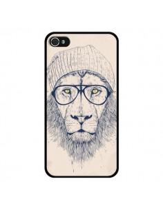 Coque Cool Lion Lunettes pour iPhone 4 et 4S - Balazs Solti