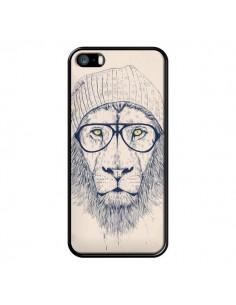 Coque Cool Lion Lunettes pour iPhone 5 et 5S - Balazs Solti
