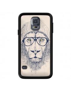 Coque Cool Lion Lunettes pour Samsung Galaxy S5 - Balazs Solti