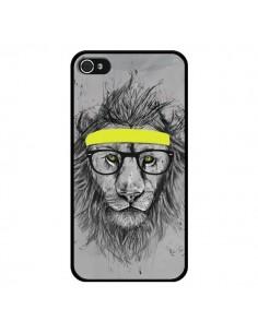 Coque Hipster Lion pour iPhone 4 et 4S - Balazs Solti