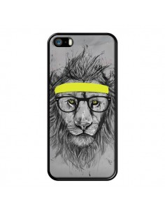Coque Hipster Lion pour iPhone 5 et 5S - Balazs Solti