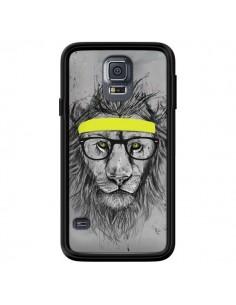 Coque Hipster Lion pour Samsung Galaxy S5 - Balazs Solti