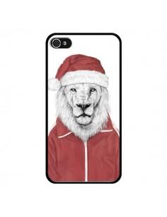 Coque Santa Lion Père Noel pour iPhone 4 et 4S - Balazs Solti