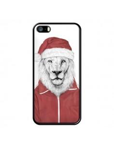 Coque Santa Lion Père Noel pour iPhone 5 et 5S - Balazs Solti
