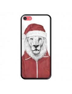 Coque Santa Lion Père Noel pour iPhone 5C - Balazs Solti