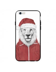 Coque Santa Lion Père Noel pour iPhone 6 - Balazs Solti