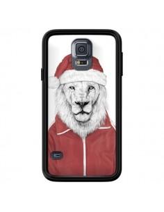 Coque Santa Lion Père Noel pour Samsung Galaxy S5 - Balazs Solti