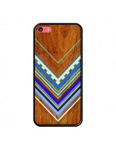 Coque Azteque Arbutus Blue Bois Aztec Tribal pour iPhone 5C - Jenny Mhairi