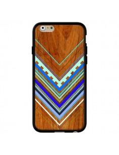 Coque Azteque Arbutus Blue Bois Aztec Tribal pour iPhone 6 - Jenny Mhairi