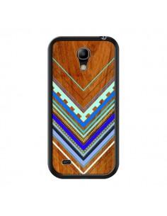 Coque Azteque Arbutus Blue Bois Aztec Tribal pour Samsung Galaxy S4 Mini - Jenny Mhairi