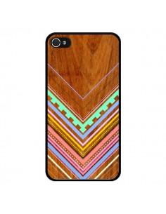 Coque Azteque Arbutus Pastel Bois Aztec Tribal pour iPhone 4 et 4S - Jenny Mhairi