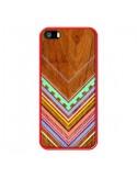 Coque Azteque Arbutus Pastel Bois Aztec Tribal pour iPhone 5 et 5S - Jenny Mhairi