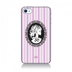 Coque Camée Squelette Rose pour iPhone 4 et 4S