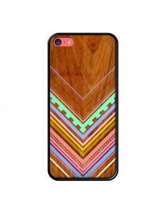 Coque Azteque Arbutus Pastel Bois Aztec Tribal pour iPhone 5C - Jenny Mhairi