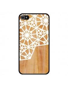 Coque Frozen Stars Etoile Bois Azteque Aztec Tribal pour iPhone 4 et 4S - Jenny Mhairi