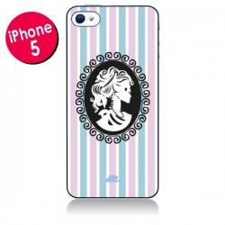 Coque Camée Squelette Rose et Bleue pour iPhone 5