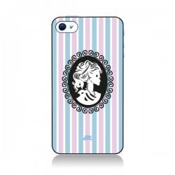 Coque Camée Squelette Rose et Bleue pour iPhone 4 et 4S