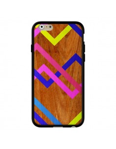 Coque Pink Yellow Wooden Bois Azteque Aztec Tribal pour iPhone 6 - Jenny Mhairi