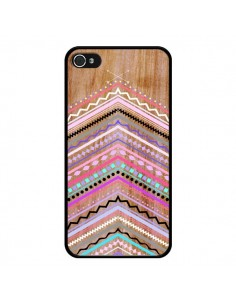 Coque Purple Chevron Wild Wood Bois Azteque Aztec Tribal pour iPhone 4 et 4S - Jenny Mhairi