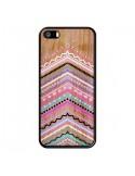 Coque Purple Chevron Wild Wood Bois Azteque Aztec Tribal pour iPhone 5 et 5S - Jenny Mhairi