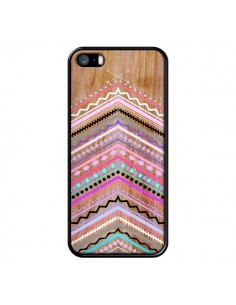 Coque Purple Chevron Wild Wood Bois Azteque Aztec Tribal pour iPhone 5 et 5S - Jenny Mhairi